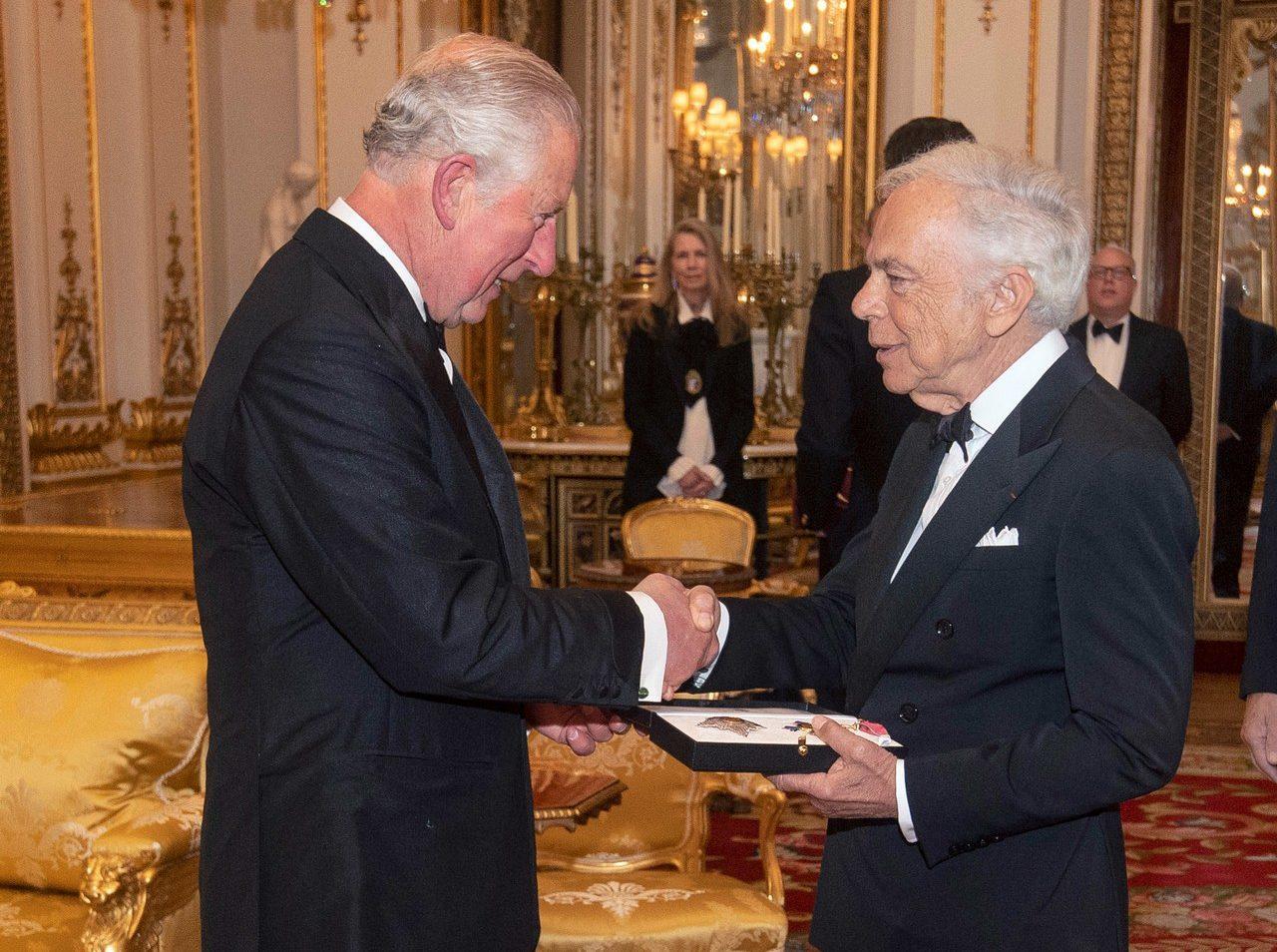 Ralph Lauren shaking hands