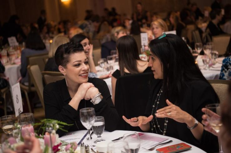 women at women and wine event